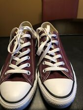 Converse All Star Chuck Taylor Canvas Shoes Low Top Burgundy M-6 W-8,
