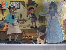 """Vintage Pinocchio Geppetto Blue Fairy 60 pc 16"""" x 11"""" puzzle MB Storybook 1986"""