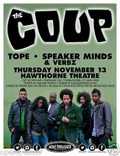 THE COUP / TOPE 2014 PORTLAND CONCERT TOUR POSTER - Oakland Hip-Hop Music