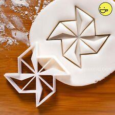 Origami Pinwheel cookie cutter   windmill moulin rainbow cute cupcake topper