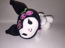 "SANRIO 2008 Plush Stuffed KUROMI Hello Kitty Anime Toy Skull Cherries 6"""