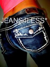 Buckle SILVER AIKO Skinny Faux Flap Pocket Low Rise Stretch Jeans 32 x 30 #013