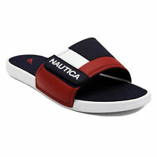 Nautica Colorblock Logo Slide Sandals