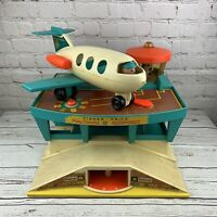 Vintage 1972 Fisher Price Little People Play Family Airport #996 Airplane