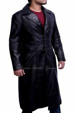 Leather Collared Long Coats & Jackets for Men