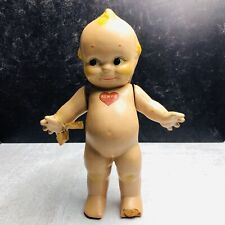 Vintage ROSE O'NEILL KEWPIE Composition Doll Toy Blue Wing Articulating Arms 11""