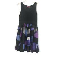 Eliza J Women's Fit & Flare Dress Sleeveless Black purple Blue 104K