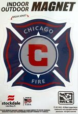 "Chicago Fire SC 5"" Vinyl Auto Home Magnet MLS Soccer Football Club"