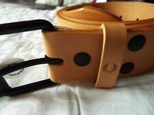 BNWT FRED PERRY LEATHER BELT size-36 inches in TAN