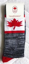 New ! 2018 Adult CANADA WINTER OLYMPICS SOCKS Mens Hommes FOOT SIZE 7-12