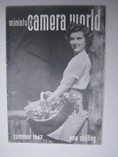 RARE 1947 VINTAGE MINIATURE CAMERA WORLD 4 MAGAZINES SPRING SUMMER AUTUMN WINTER