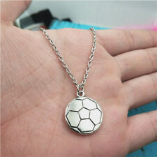 SOCCER,SOCCER Necklace,Silver handmade necklace,Fashion charm jewelry pendants
