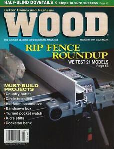 WOOD  Magazine February 1990 #33 router table, oak dry sink, bracelets, trucks..