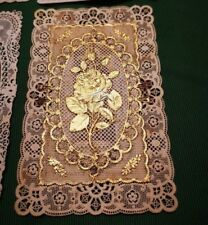 CANIVET-RARO-HOLY CARD-ROSA D'ORO-PINTARD-Lace card-santino merlettato-système