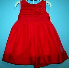 NEW CARTERS INFANT DRESS RED PAGEANT HOLIDAY PORTRAIT SIZE 9 MONTHS
