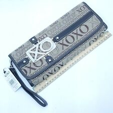 XOXO Ladys Khaki Fabric Wallet Evening Carry Clutch Handbag