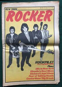 NEW YORK ROCKER # 21 ~ US 1979 Punk Magazine Rockpile Blondie Richard Lloyd Dils