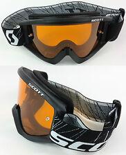 Scott recoil Xi Lunettes de MOTOCROSS MX Noir avec goggle-shop Orange
