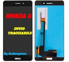 GLS 24H DISPLAY LCD+TOUCH SCREEN NOKIA PER 6 N6 TA-1021 NERO VETRO SCHERMO NUOVO