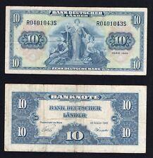 Germania / Germany - 10 mark Bank Deutscher Lander 1949  BB / VF  A-03