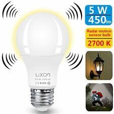 Motion Sensor Light Bulb 5W Smart Bulb Radar Dusk to Dawn LED Motion Sensor L...