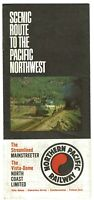 ⫸ 594 Northern Pacific Railway Railroad Passenger Timetables August 18, 1968