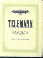 """Telemann : """" Concerto  G-Dur """" Flöte, Oboe und Basso continuo"""