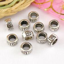 Jewellery Making Beads jewellery making supplies Bronze Tibetan Silver Charms Beads F4N8