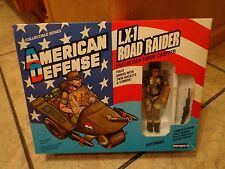 1986 REMCO--AMERICAN DEFENSE--LX 1 ROAD RAIDER CHOPPER W/ FIGURE & BOX (LOOK)