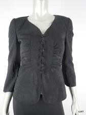 ARMANI COLLEZIONI 6 S Black Jacquard Floral Evening Blazer Jacket Italy 42 EUC