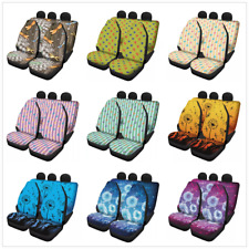 Ocean Animals Pattern Car Seat Cover Front Rear Protect Fit Most Car Truck SUV