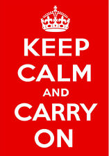 KC02 KEEP CALM AND CARRY ON A2 POSTER PRINT