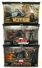 Marvel Legends Rider Series Ghost rider Black Widow Wolverine