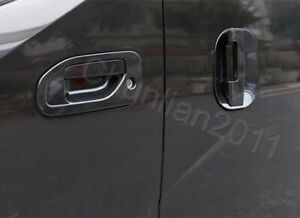 Door Handle Bowl Cup Cover Trim For 2009-2018 Nissan NV200 Carbon Fiber Set