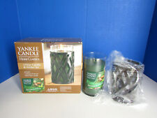 Brand New Yankee Candle Home Classics Balsam & Spruce Pillar Candle Holder Set
