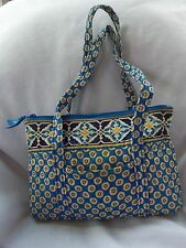 VERA BRADLEY LITTLE BETSY HANDBAG RIVIERA BLUE  RETIRED GOOD CONDITION