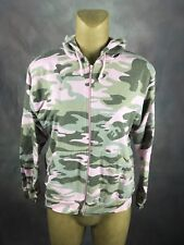 Lady Belle Ranger Hooded Sweater Hunting camouflage V-Neck PINK Size LARGE