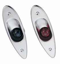 Marine Boat Navigational Side Bow Tear Drop Lights Stainless Steel Flush Mount