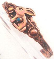 Copper Cuff Bracelet Wheeler Rabbit  Arthritic Sciatica Healing Folklore CB 011
