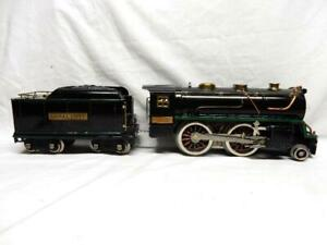 LIONEL No.384E STANDARD GAUGE 2-4-0 STEAM LOCO & TENDER, C-7 EX, RUNS FINE, NO R