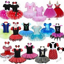 Girl Kid Minnie Mouse Costume Party Outfit Xmas Fancy Dress up Ballet Tutu Skirt