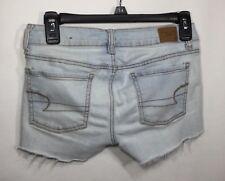 Women's American Eagle Light Wash Jeggings Jeans SHORTS Sz 2 Cut Off