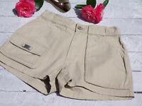 OXBOW Femme AUTHENTIQUE Short Pantalon Court SHORTS BEIGE XS 34 / 36 100 % COTON
