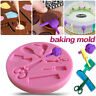 DIY Barber Tools Silicone Fondant Mold Chocolate Cake Decor Baking Mould Tools