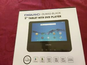 """DIGILAND DL9002-Black 9"""" Tablet with DVD Player 16GB in Unopened Box"""