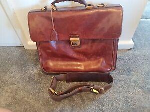 The Bridge Leather Briefcase