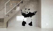Armed Panda Graffiti Vinyl Wall Decals - Wall tattoos - Room stickers - BD003