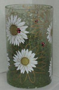 Yankee Candle Crackle Large Jar Holder spring summer LADY BUG LADYBUG Daisies