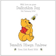 Personalised Dedication Day Card Winnie The Pooh