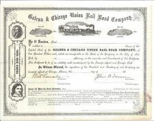 GALENA & CHICAGO UNION RAIL ROAD COMPANY.....1860'S UNISSUED STOCK CERTIFICATE